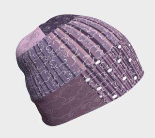 Aperçu de Purple Americana Quilt Beanie