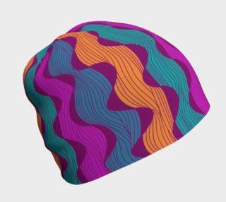 Undulating Stripes Beanie - Bold preview