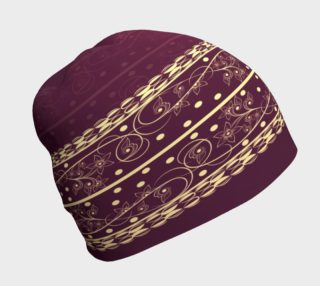 Wine and Gold Beanie preview