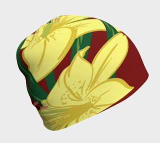 Yellow Lilies Beanie preview