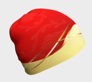Red With Gold Beanie preview