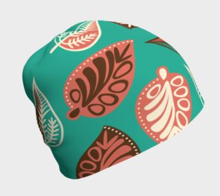 Teal Leaves Beanie preview