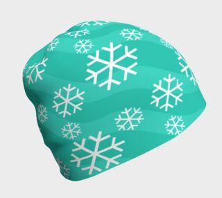 Aperçu de Snowflakes on Teal