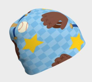 Aperçu de Playball on Blue Background Beanie