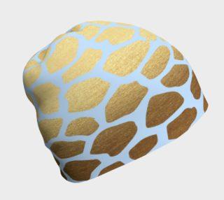 Aperçu de Blue and Gold Giraffe Skin Beanie