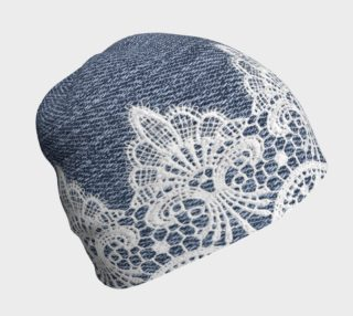 Aperçu de Denim With White Lace 2 Beanie