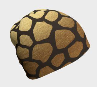 Aperçu de Gold Animal Skin Beanie