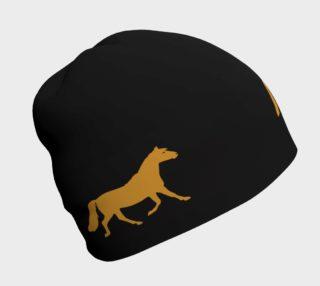 Aperçu de gold pony on black