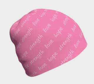 Aperçu de Hope Strength Love Breast Cancer Beanie