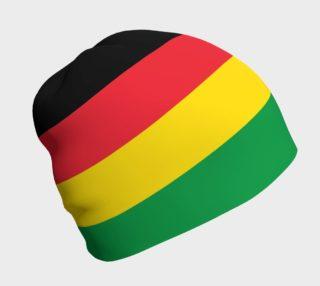 Aperçu de Rasta Colors Green Yellow Red Black Stripes Pattern Beanie