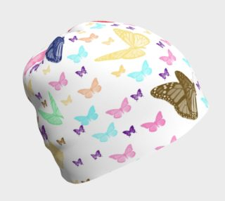 Colorful Butterfly Pattern Beanie Cap preview