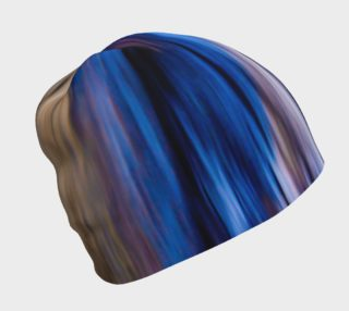 Abstract Tie Dye Color Stripes Beanie Cap preview