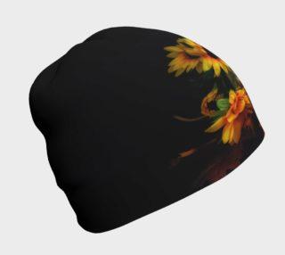 Aperçu de Skull and Flowers Beanie Cap