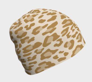 Aperçu de Khaki Leopard Beanie Hat