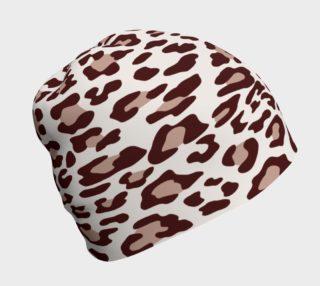 Aperçu de Brown Leopard Beanie Hat