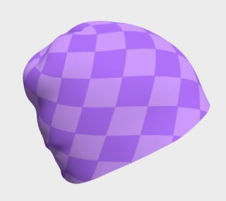 Aperçu de Violet Harlequin Beanie Hat
