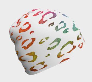 Aperçu de Rainbow Leopard Beanie Hat
