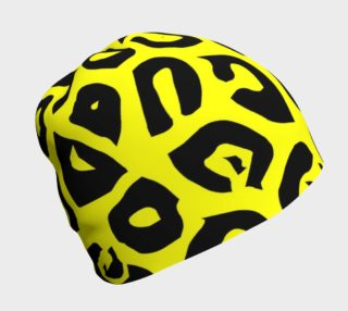 Yellow Cheetah Print Adult And Kids Beanies  preview