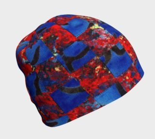 Red and Blue Weaving Beanie preview