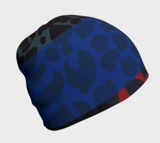 Multicolor Geometric Cheetah Print Beanie  preview