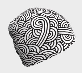 Black and white swirls doodles Beanie preview