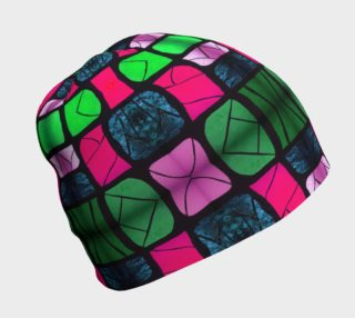 Waterlily Stained Glass - Pink Beanie preview