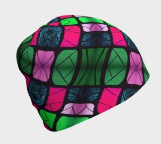 Waterlily Stained Glass - Pink Beanie II preview