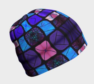 Waterlily Stained Glass - Purple Beanie  preview