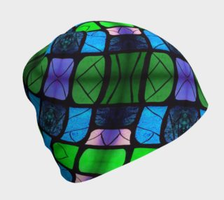 Waterlily Stained Glass - Green Beanie II  preview