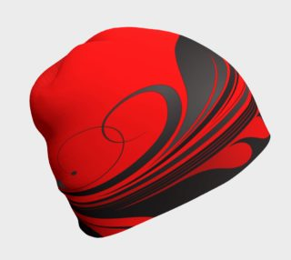 Red and Black Wrap Beanie preview