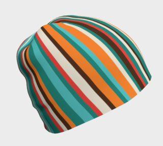 Bold Stripe Beanie Hat preview