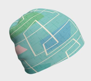 Green Mid Century Modern Beanie Hat preview