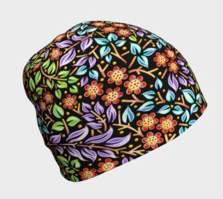 Filigree Floral Beanie smaller print preview