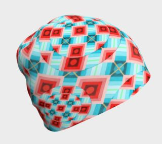 Groovy Argyle Beanie small print preview