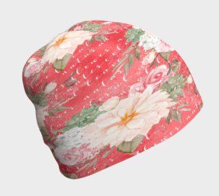 Aperçu de Flowers On Rose Red Beanie