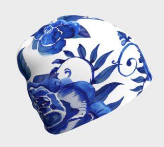 Aperçu de Big Blue Flowers Beanie
