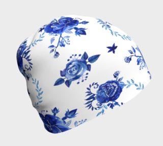 Aperçu de Blue Flowers Beanie