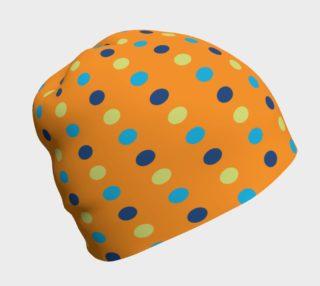 Bright Polka Dots On Orange Beanie preview