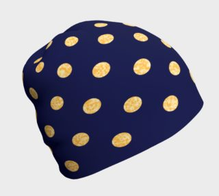 Navy With Gold Polka Dots Beanie preview