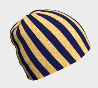 Navy And Gold Stripe Beanie preview
