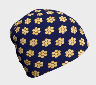 Navy With Gold HoneyComb Beanie preview