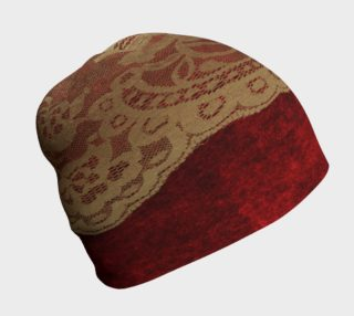 Red Velvet With Gold Lace Beanie preview