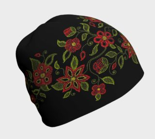 Metis Art Touque Native Beading Art Beanie Hat preview