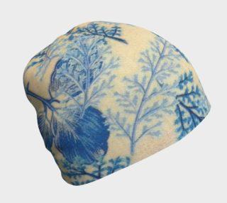 1950s vintage blue ferns beanie preview