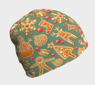 1950s Christmas Gingerbread beanie preview