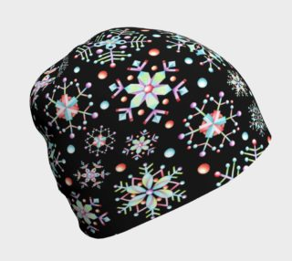 Prismatic Snowflakes Beanie preview