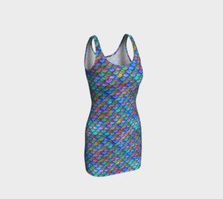 Ocean Rainbow Mermaid BodyCon Yoga Tank Top Dress preview