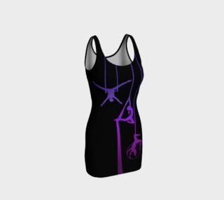 Aerial Ombre - Midnight Amethyst BodyCon Yoga Tank Top Dress preview