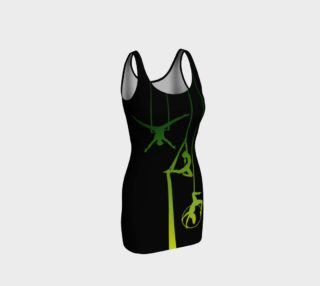 Aerial Ombre - Midnight Emerald BodyCon Yoga Tank Top Dress preview