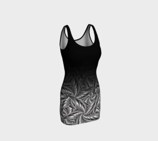 Black and White - Star Spiral BodyCon Yoga Tank Top Dress preview